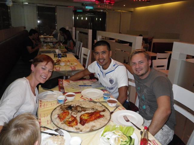 Mandi dinner with Erik