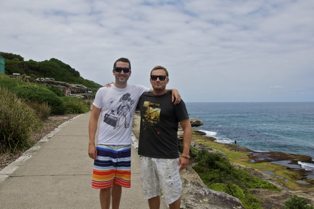 Austin and Martin in Sydney by Bronti beach